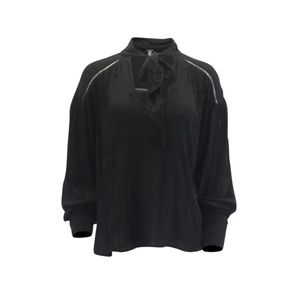 Free People Wishful Moments Tie-Front Top Black